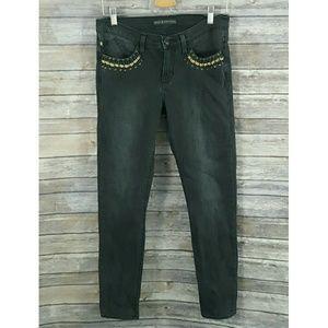 ROCK & REPUBLIC Berlin Skinny Black Jeans 8 M